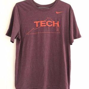 Nike | Tee Mens Red Virginia Tech T-shirt